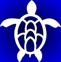 Sea turtle die cut vinyl decal More