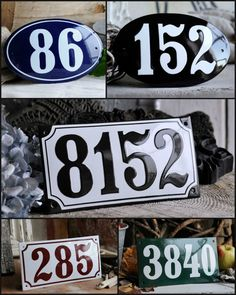 "Ramsign  - house numbers- Giveaway on ""It's Extraordinary!"""