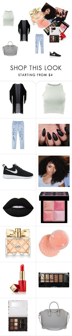 """""""Unbenannt #7"""" by belma-salanovic ❤ liked on Polyvore featuring WithChic, American Apparel, NIKE, Lime Crime, Givenchy, Avon, Estée Lauder and Boohoo"""