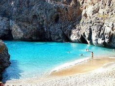 The beautiful Kalami beach in Kythira island, Greece Great Places, Places To See, Beautiful Places, Places Around The World, Around The Worlds, Exotic Beaches, Secluded Beach, Hidden Beach, Greece Islands