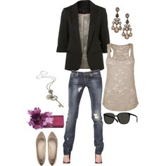 love the blazer... cute for work then take off jacket for happy hour!