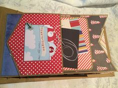 Darling mini album using the Banner Punch Board by @Crafting Passions from @wermemorykeepers