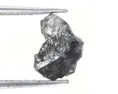 1.84 Ct Natural Loose Diamond Raw Rough Blackish Color Irregular Shape