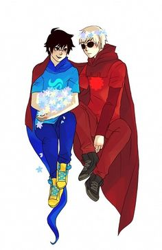 Homestuck - Dave Strider x John Egbert - JohnDave