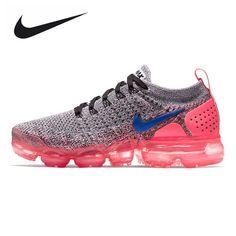 616729fe24d79 2018 Real Nike Air VaporMax Ultramarine Hot Punch Grey 942843 104 Running  Shoe For Sale
