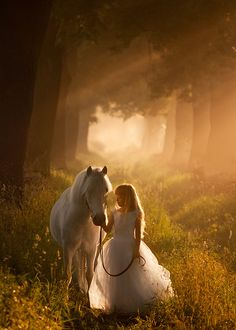 fairytale vision #TGP inspiration Geneva and horse in forest www.thegenevaprojectbook.com
