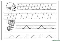 Grafomotricidad para Educación Infantil - Web del maestro Alphabet, Words, Sunshine, Halloween Coloring, Note Cards, Kids, Alpha Bet, Nikko, Horse