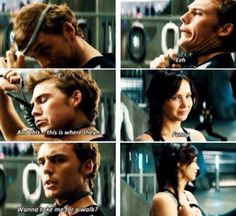 "I would, even if Katniss wouldn't.  She's just like, ""Ah.... no.  Thanks, but no thanks.  See ya."""