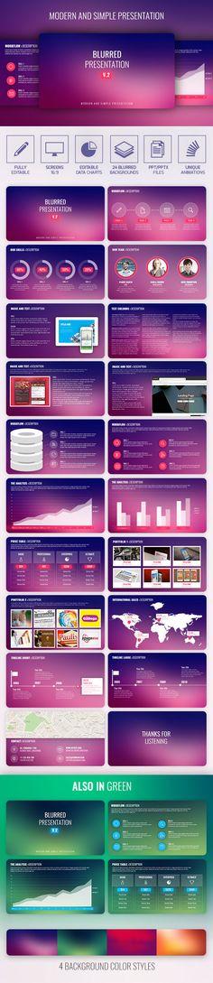 Blurred PowerPoint Presentation Template. Download here: https://graphicriver.net/item/blurred-presentation-v2/16918619?ref=ksioks