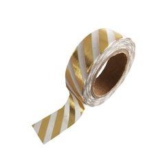 Masking Tape goud gestreept - http://credu.nl/product-categorie/masking-tape-labels/