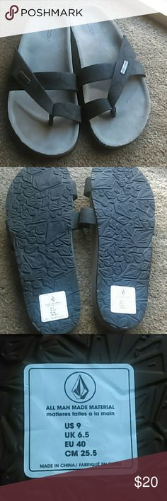 CLOSET CLEANING GOTTA GO Black Sandals by Volcom Black, low sandals, perfect for comfortable shoes Volcom Shoes Sandals