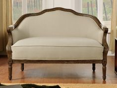 2-Sitzer-Sofa Stoff Barock Isolde - Beige