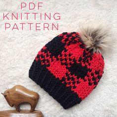 Instant Download Knitting Pattern Unisex Hat Pattern Fair Isle Kids Patterns, Baby Knitting Patterns, Craft Patterns, Knitted Hats Kids, Kids Hats, Crochet Hats, Fair Isle Knitting, Easy Knitting, Beanie Pattern