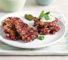 vegetable and feta fritters recipe -Taste USA