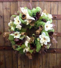 Everyday Mesh wreath via Etsy
