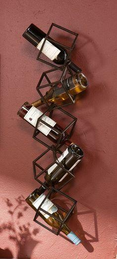 Tumbling Cubes - Wall Mounted Wine Holder // Storage Unit