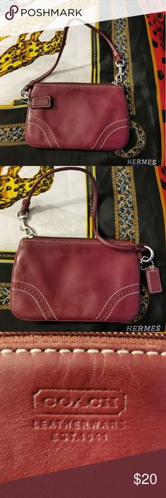 AUTHENTIC Coach wristlet, Vintage. I love Coach's vintage bags. The leather is oh so soft. This wristlet is in very good condition! Very clean. Coach Bags Clutches & Wristlets