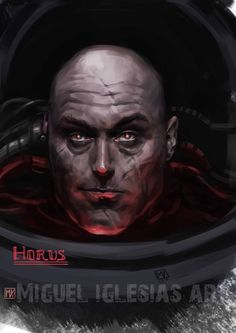 Horus Lupercal, Primarch of the Black Legion (Luna Wolves/Sons of Horus) Warhammer 40k Art, Warhammer Fantasy, Space Marine, Power Of Evil, Chaos Legion, Chaos 40k, Sons Of Horus, The Grim, Marvel