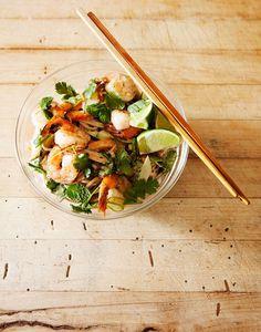 Soba Noodle Salad with Grilled Shrimp | Lonny