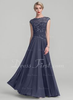 58f0d653eba A-Line Princess Scoop Neck Floor-Length Chiffon Lace Mother of the Bride  Dress With Ruffle - Mother of the Bride Dresses - DressFirst