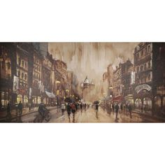 Classic Times 71-inch x 35-inch Oil Wall Art