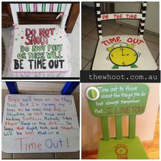 16 Time-Out Chair Ideas for Kids - House Interior Designs Canvas Decor Diy, Activities For Kids, Crafts For Kids, Educational Activities, Time Out Chair, The Whoot, Things To Do With Boys, Painted Chairs, Painted Furniture