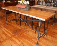 Yellow Chair Market » Industrial Bar Height Table