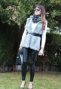 Gray Fur Vest