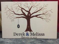Fingerprint tree - wedding guest book alternative
