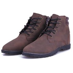 Mens Waterproof High Top Leather Boots Shoes