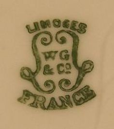 Pottery and Porcelain Marks: W.G. & Co. Limoges France