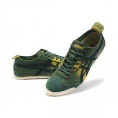 2012 Asics Onitsuka Tiger MEXICO 66 Deluxe Womens Shoes Green Yellow White