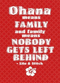 """""""Ohana means family..."""" Lilo and Stitch themed printable FREE free-printables"""