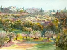 """The Olive Orchard"" (Tuscany, Italy) by  Helen K Beacham"