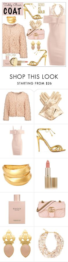 """Keep it Cozy: Fuzzy Coats"" by goreti ❤ liked on Polyvore featuring Gucci, Aquazzura, Lanvin, L'Oréal Paris, Kenneth Jay Lane and Estée Lauder"