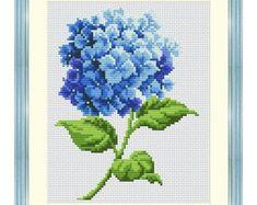 CS 721 Pink Hydrangea Cross stitch starter by ColeshillCollection