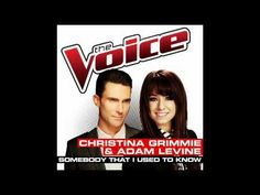 Christina Grimmie  Adam Levine - Somebody That I Used To Know - Studio Version - The Voice 2014 - YouTube