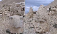 κεφάλια των θεών  των  πελασγών Ελλήνων Περσών και Αρμενίων στο μνημείο του Αντίοχου