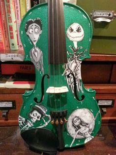 Corpse Bride Nightmare Before Christmas Violin: https://www.etsy.com ...