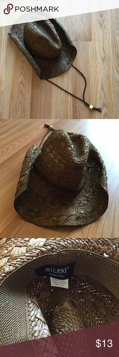 ***NO SHIP 7/21-7/29*** Milani cowgirl hat Milani cowgirl hat. Designed in Italy. Worn once. Excellent condition. No trades or holds. ***NO SHIPPING July 21st-July 29th. Please see note at top of my closet for more information.*** Milani Accessories Hats