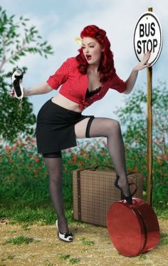 Pin up style.....LOVE THE HAIR!