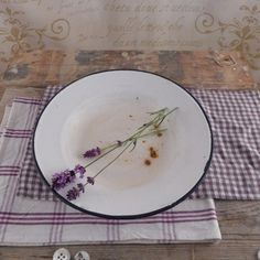 Vintage Plates & Chopping Boards – Old plate for soup  – a unique product by atelier-Brocante on DaWanda