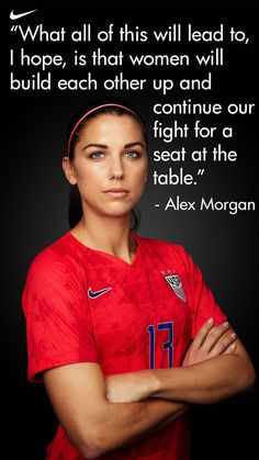 Alex Morgan isn't afraid of inspiring the next generation.You can find Alex morgan and more on our website.Alex Morgan isn't afraid of inspiring the next generation. Usa Soccer Team, Soccer Pro, Soccer Memes, Soccer Quotes, Soccer Boys, Soccer Players, Soccer Cleats, Nike Soccer, Soccer Drills