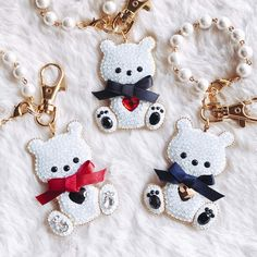 ◆Glue DECO®◆ Brilliant love teddy bagcharm (Jet)