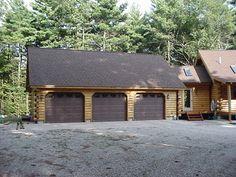 Log Cabin Garage With Lofts Garage With Hand Scribe Log