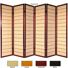 Wooden Kimura 6-panel Room Divider (China) - Overstock Shopping - Great Deals on Decorative Screens