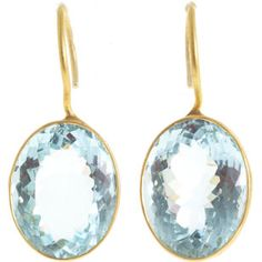 Marie Helene de Taillac Aquamarine Lady Like Earrings <3