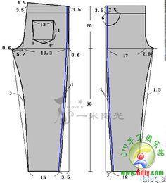 pants height 120cm