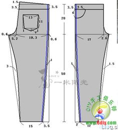 pants height 120cm