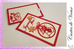 Cartes de Vœux !!! Creations, Cards, Greeting Card, Maps